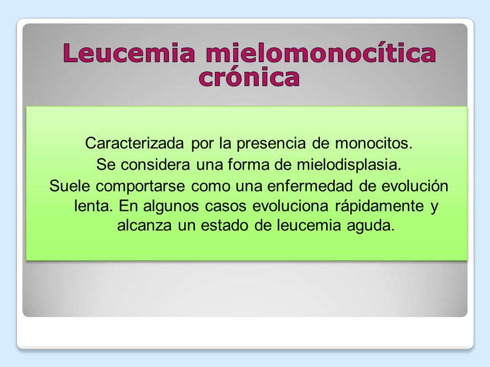 Leucemia mielomonocítica crónica