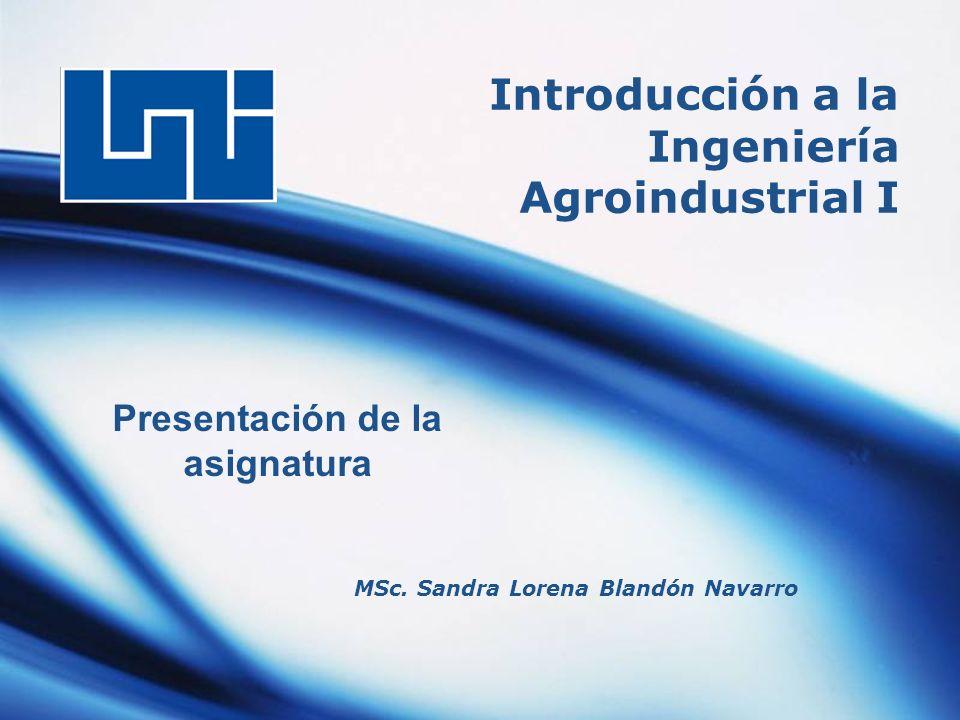 Introducción a la Ingeniería Agroindustrial I