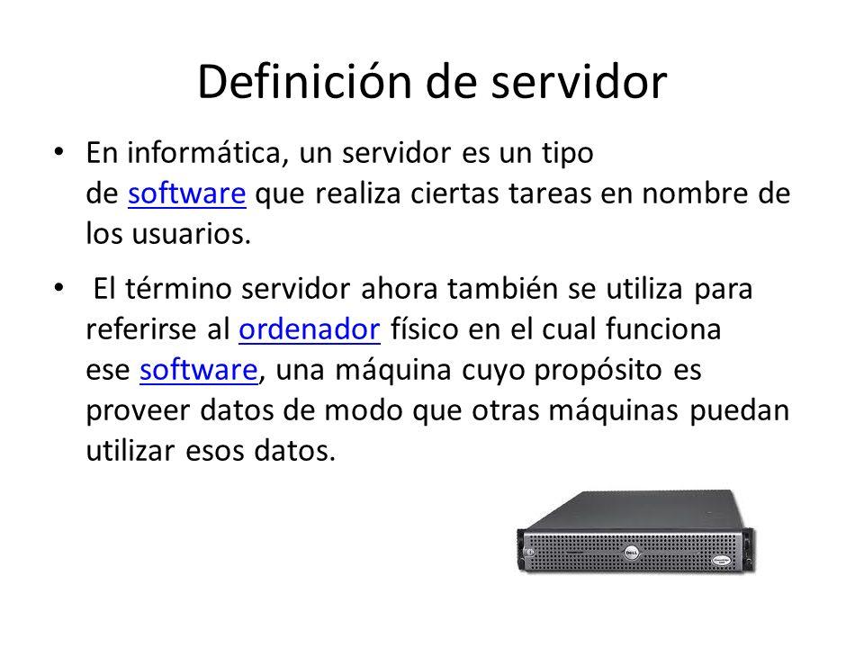 Definición de servidor