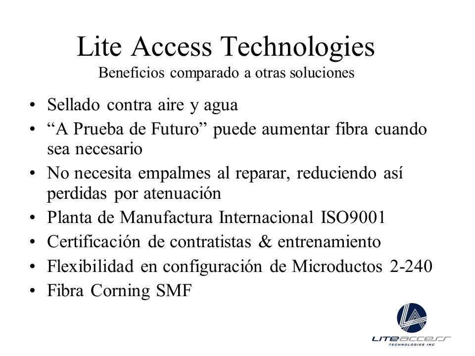 Lite Access Technologies Beneficios comparado a otras soluciones