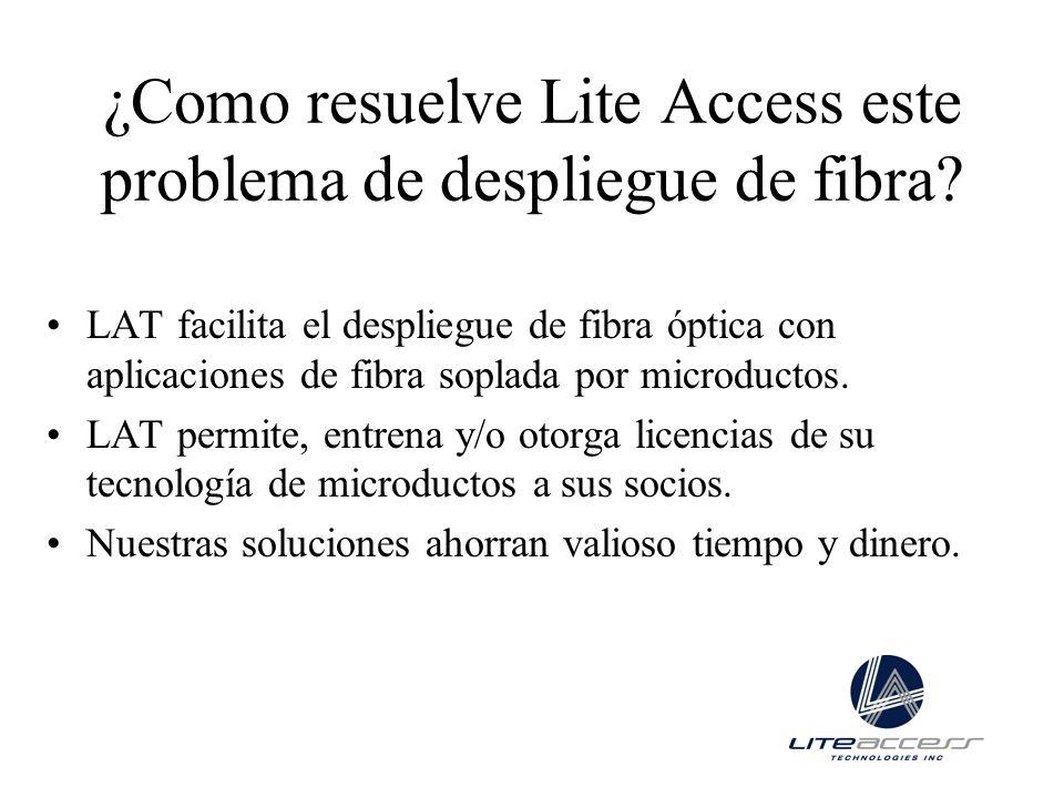 ¿Como resuelve Lite Access este problema de despliegue de fibra