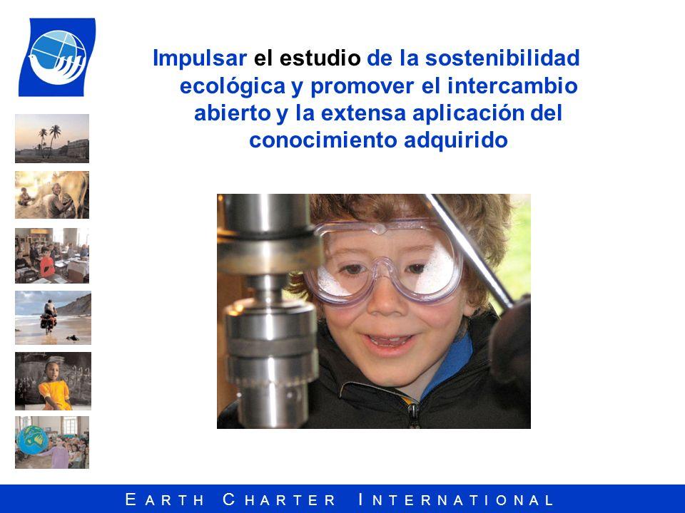 Impulsar el estudio de la sostenibilidad ecológica y promover el intercambio abierto y la extensa aplicación del conocimiento adquirido
