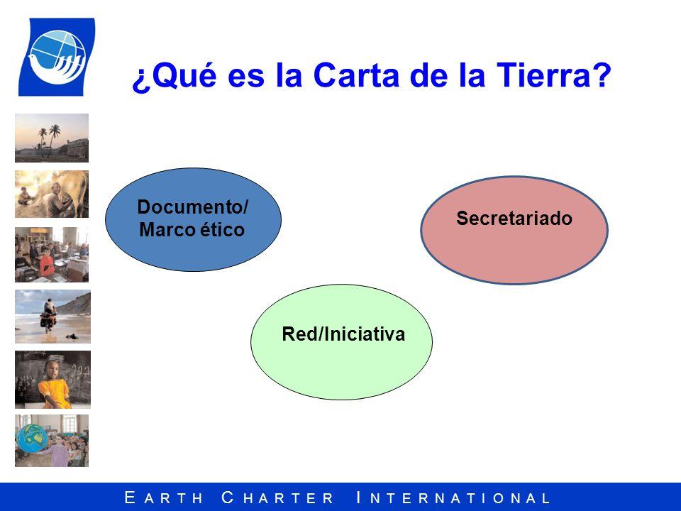 ¿Qué es la Carta de la Tierra
