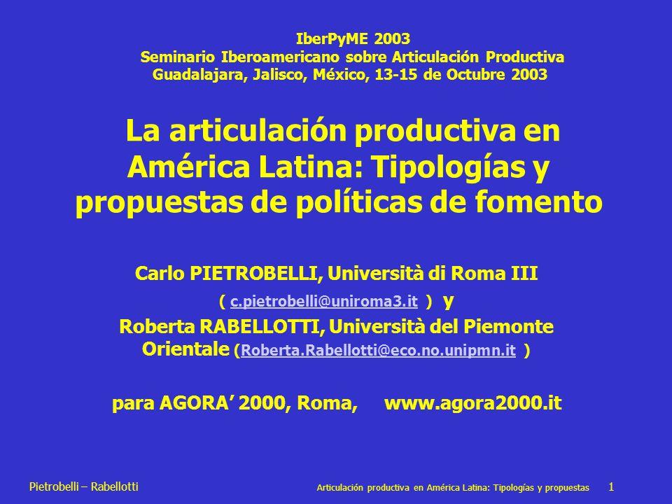 IberPyME 2003 Seminario Iberoamericano sobre Articulación Productiva. Guadalajara, Jalisco, México, 13-15 de Octubre 2003.