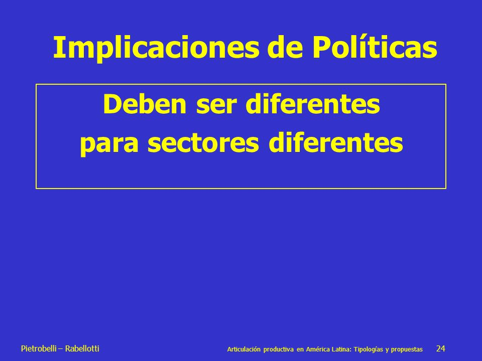 Implicaciones de Políticas