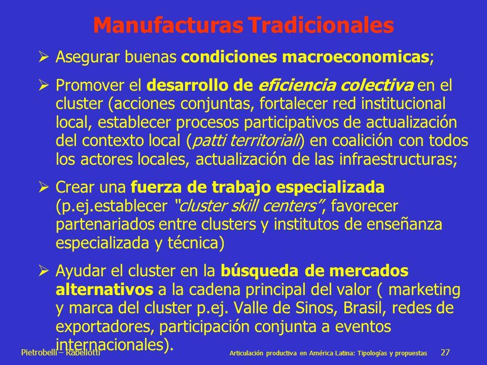 Manufacturas Tradicionales