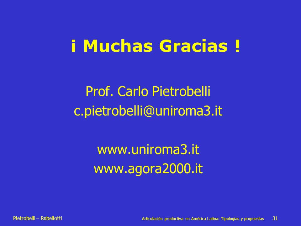 Prof. Carlo Pietrobelli