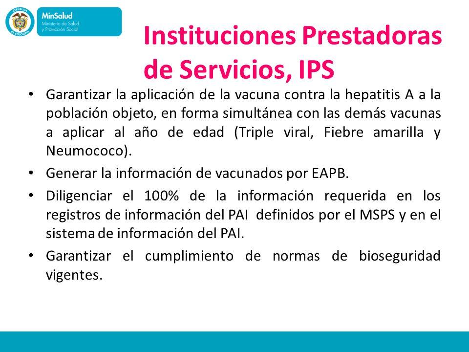 Instituciones Prestadoras de Servicios, IPS