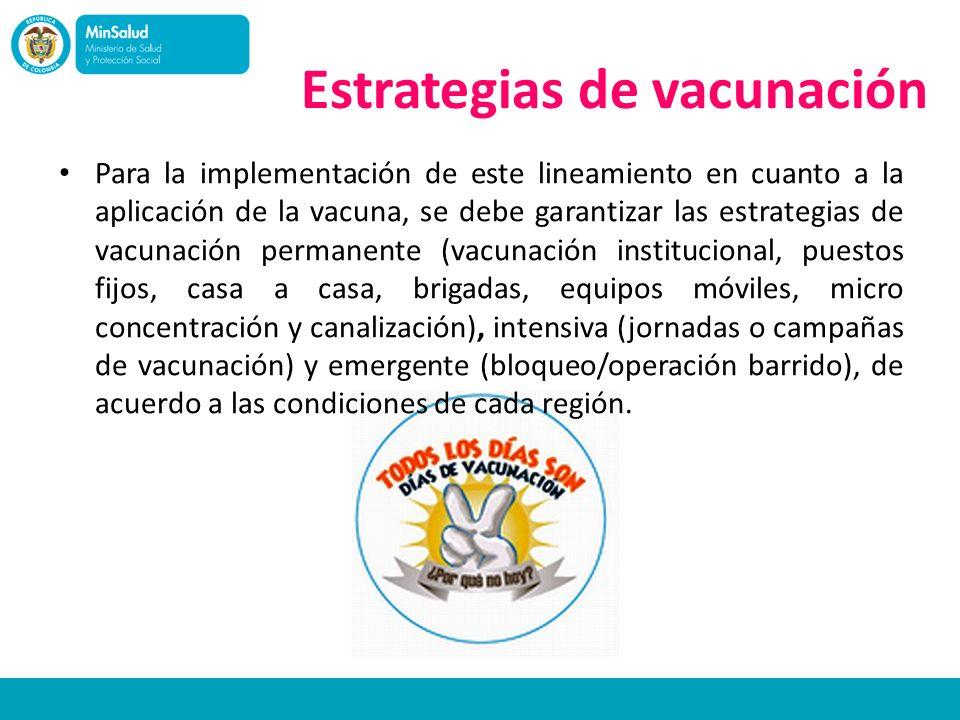 Estrategias de vacunación