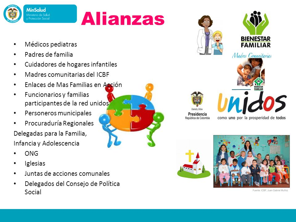 Alianzas Médicos pediatras Padres de familia