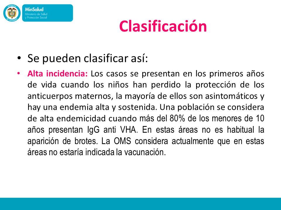 Clasificación Se pueden clasificar así: