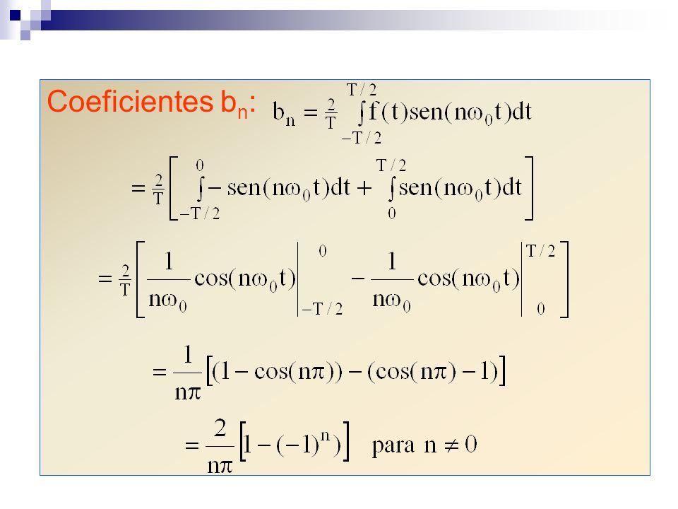 Coeficientes bn:
