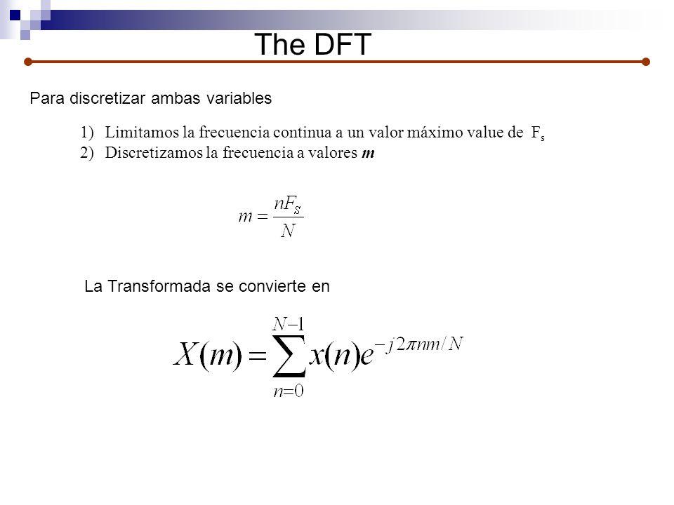 The DFT Para discretizar ambas variables