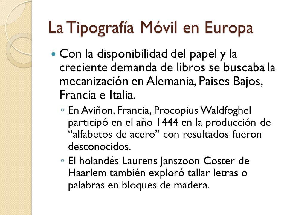 La Tipografía Móvil en Europa