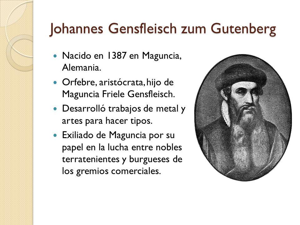 Johannes Gensfleisch zum Gutenberg