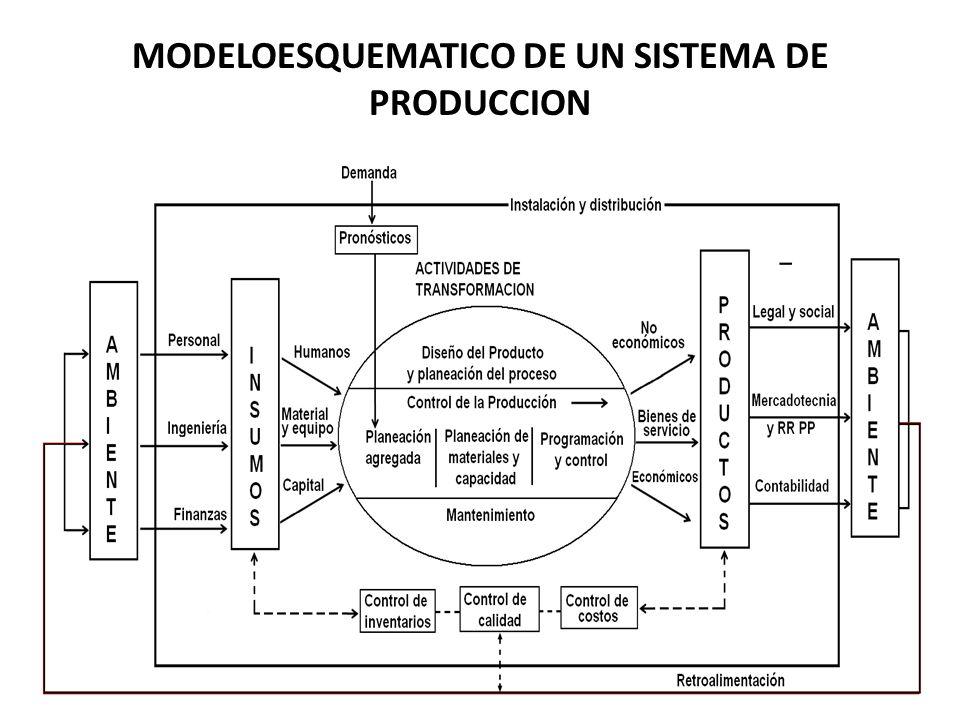 MODELOESQUEMATICO DE UN SISTEMA DE PRODUCCION