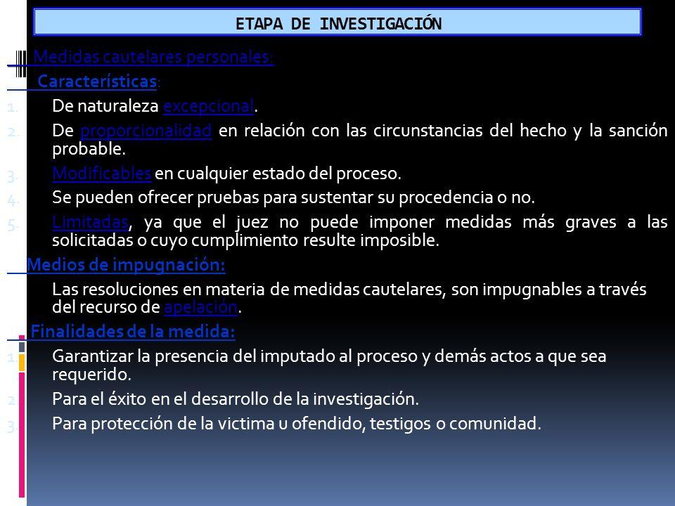 ETAPA DE INVESTIGACIÓN