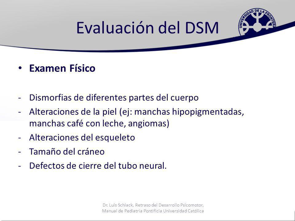 Evaluación del DSM Examen Físico
