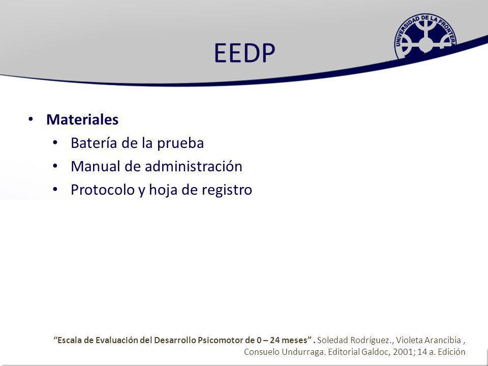 EEDP Materiales Batería de la prueba Manual de administración