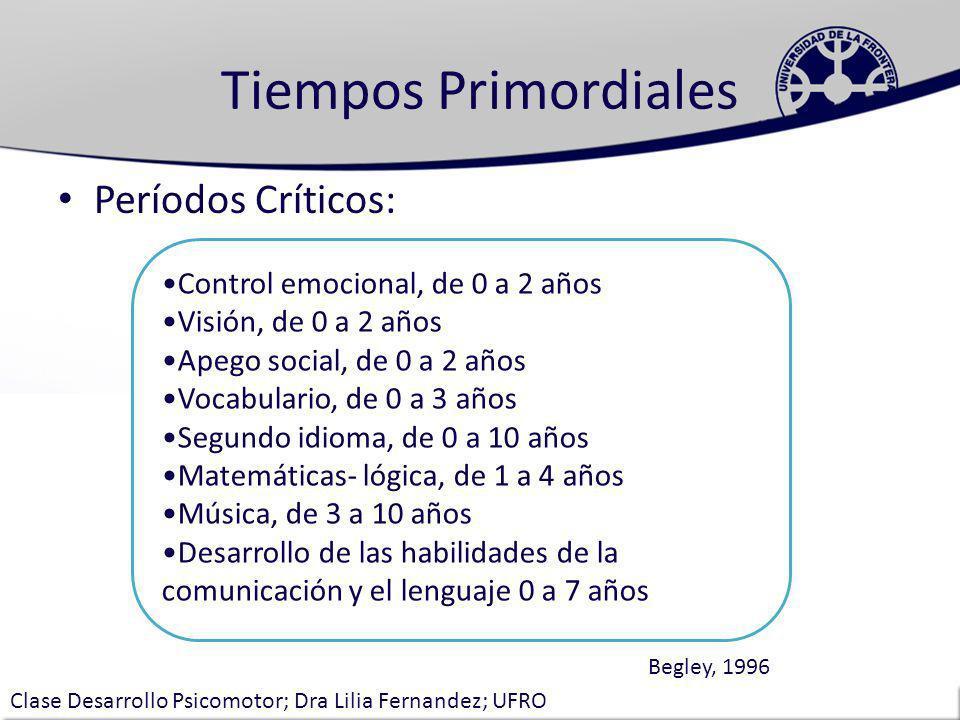 Tiempos Primordiales Períodos Críticos: