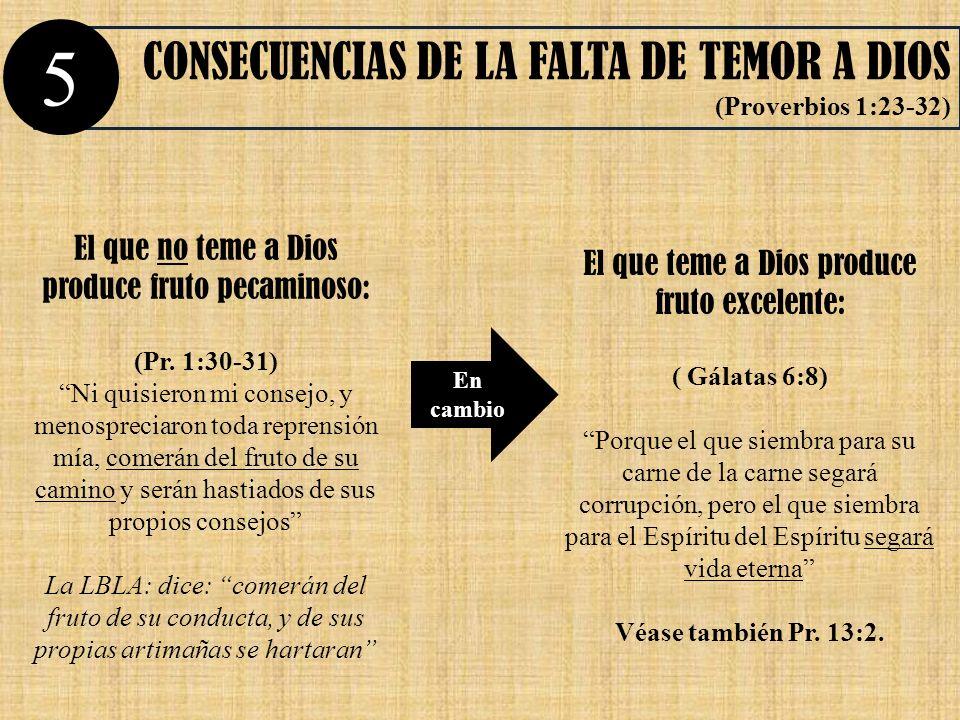 5 CONSECUENCIAS DE LA FALTA DE TEMOR A DIOS