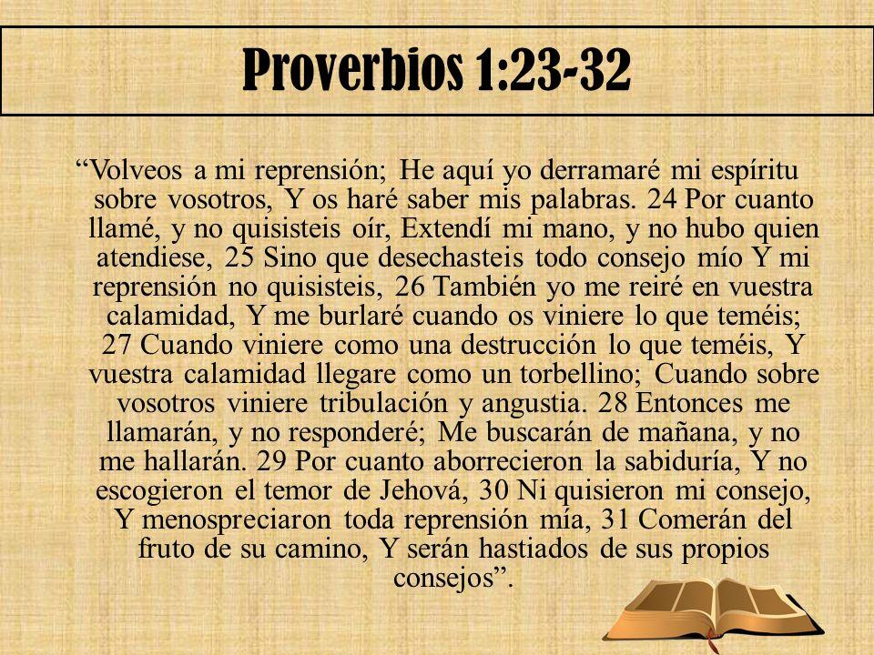 Proverbios 1:23-32