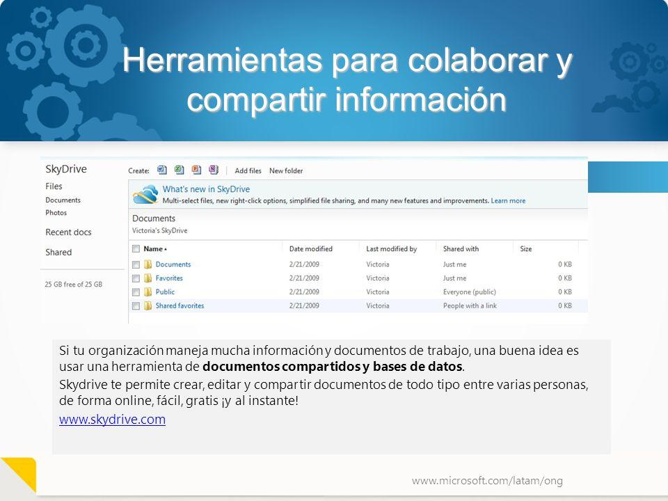 Herramientas para colaborar y compartir información