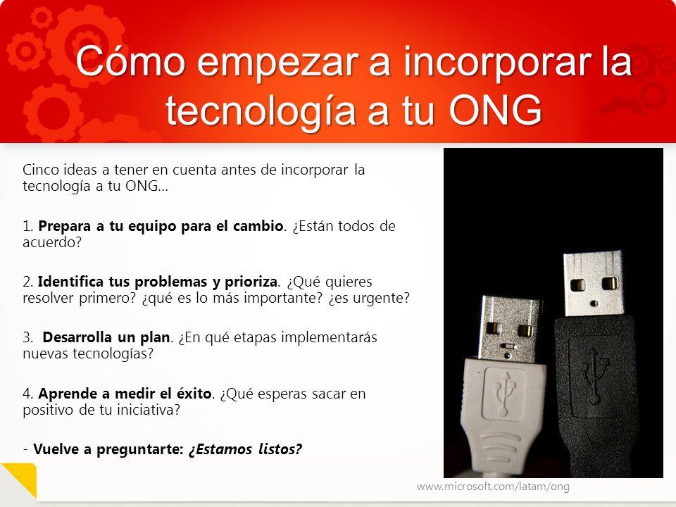 Cómo empezar a incorporar la tecnología a tu ONG