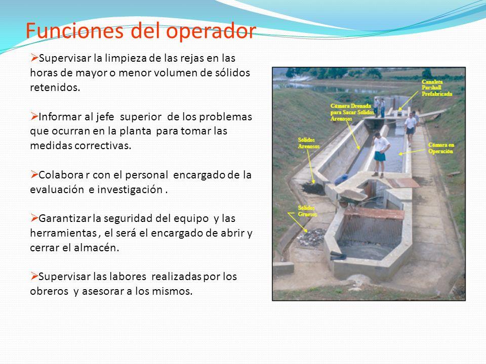 Funciones del operador