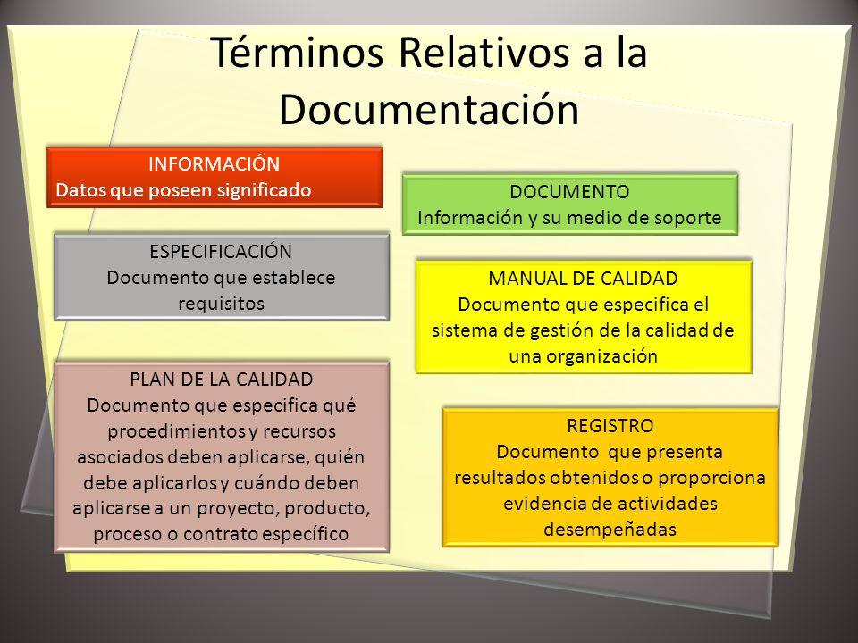 Términos Relativos a la Documentación