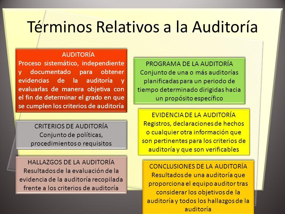 Términos Relativos a la Auditoría