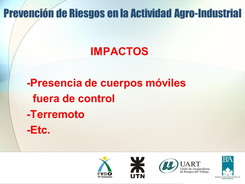Prevención de Riesgos en la Actividad Agro-Industrial