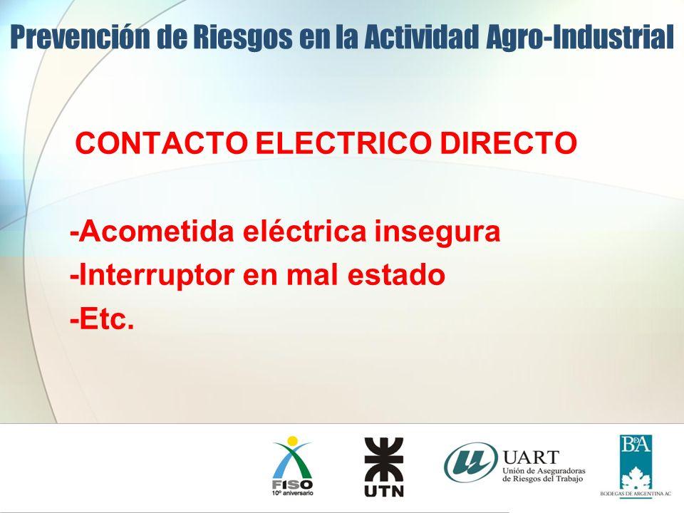 CONTACTO ELECTRICO DIRECTO