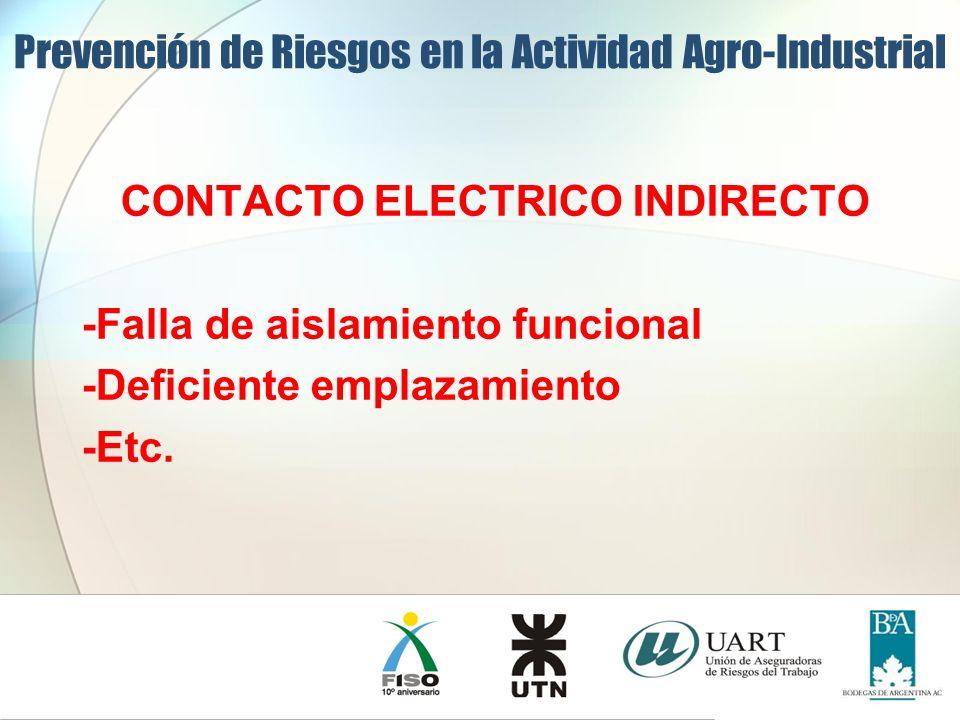 CONTACTO ELECTRICO INDIRECTO