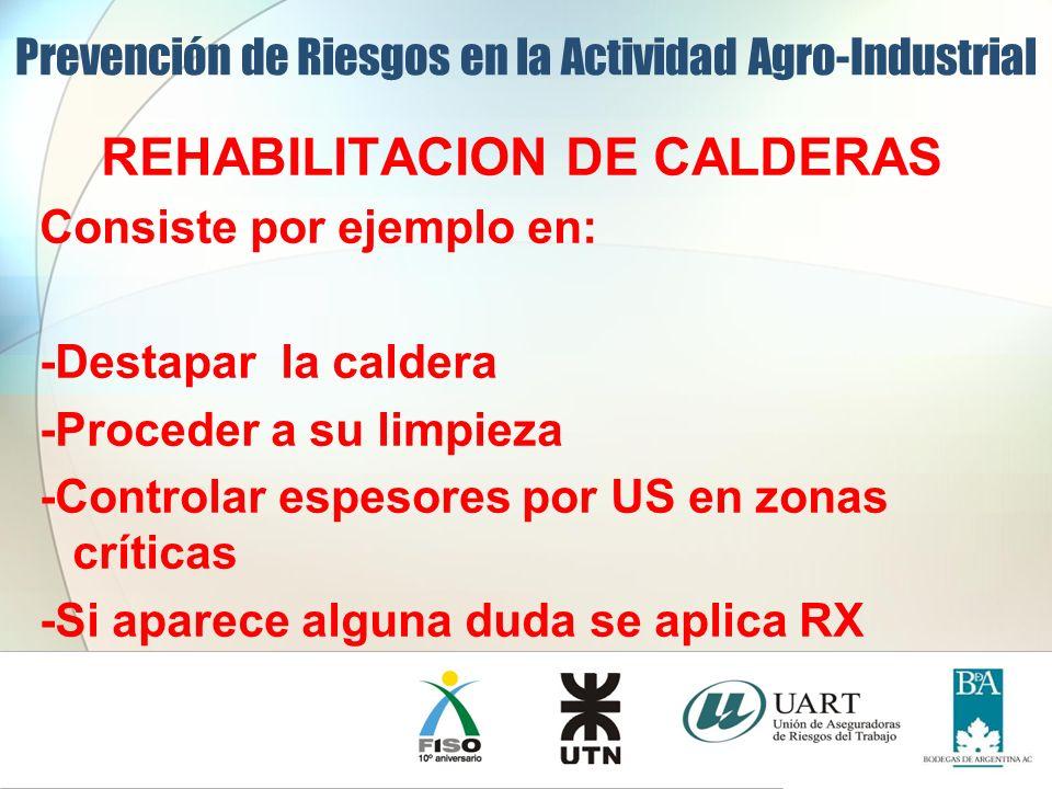 REHABILITACION DE CALDERAS