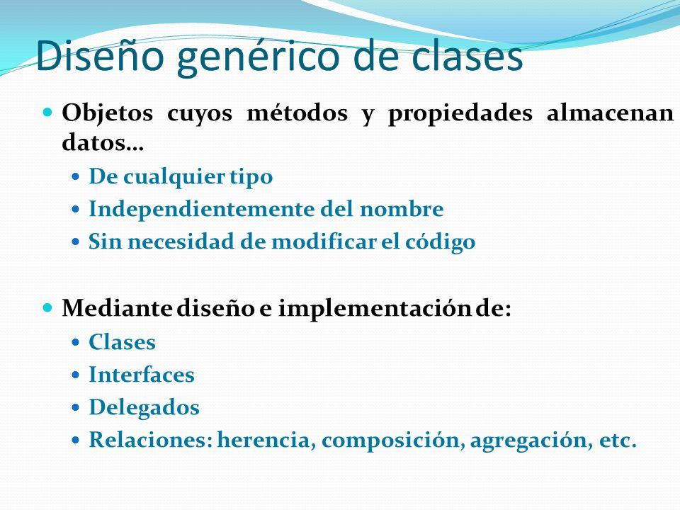 Diseño genérico de clases