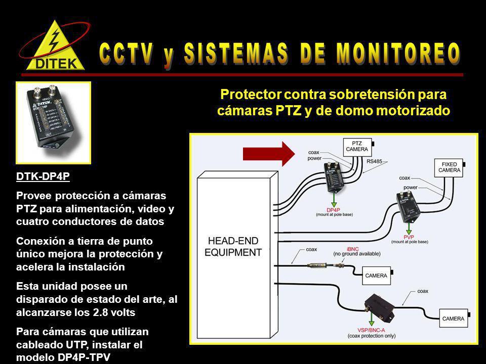 Protector contra sobretensión para cámaras PTZ y de domo motorizado