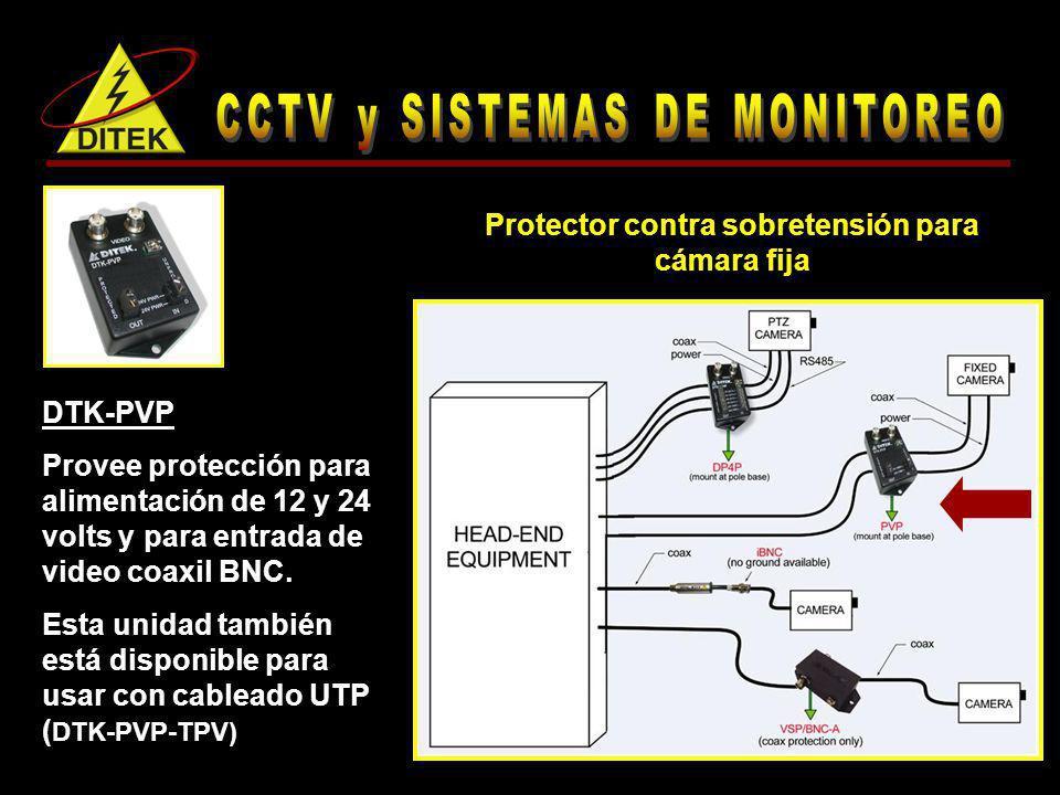 Protector contra sobretensión para cámara fija