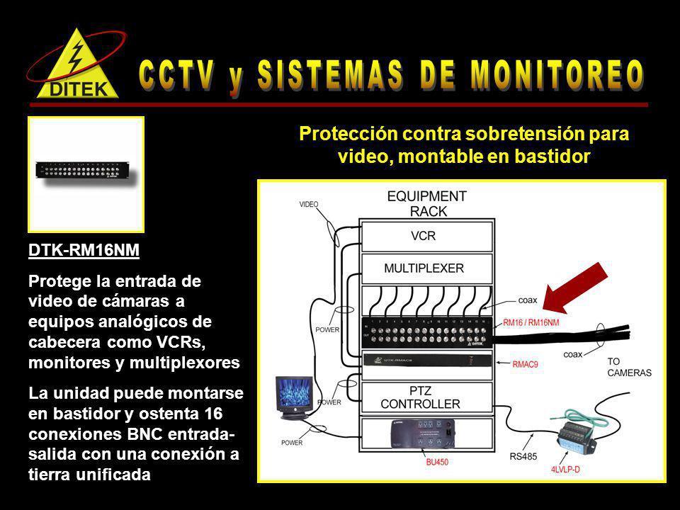 Protección contra sobretensión para video, montable en bastidor