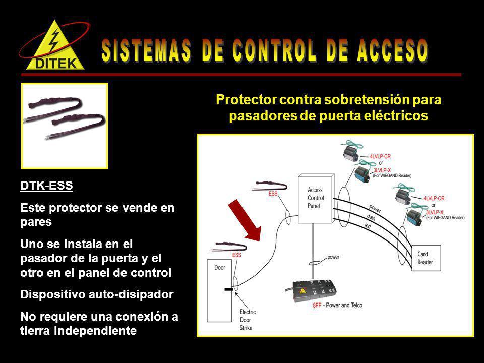 Protector contra sobretensión para pasadores de puerta eléctricos