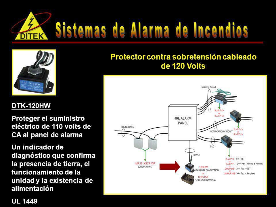 Protector contra sobretensión cableado de 120 Volts