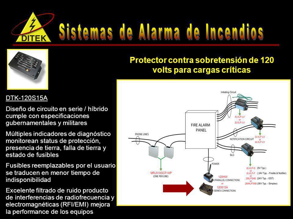 Protector contra sobretensión de 120 volts para cargas críticas