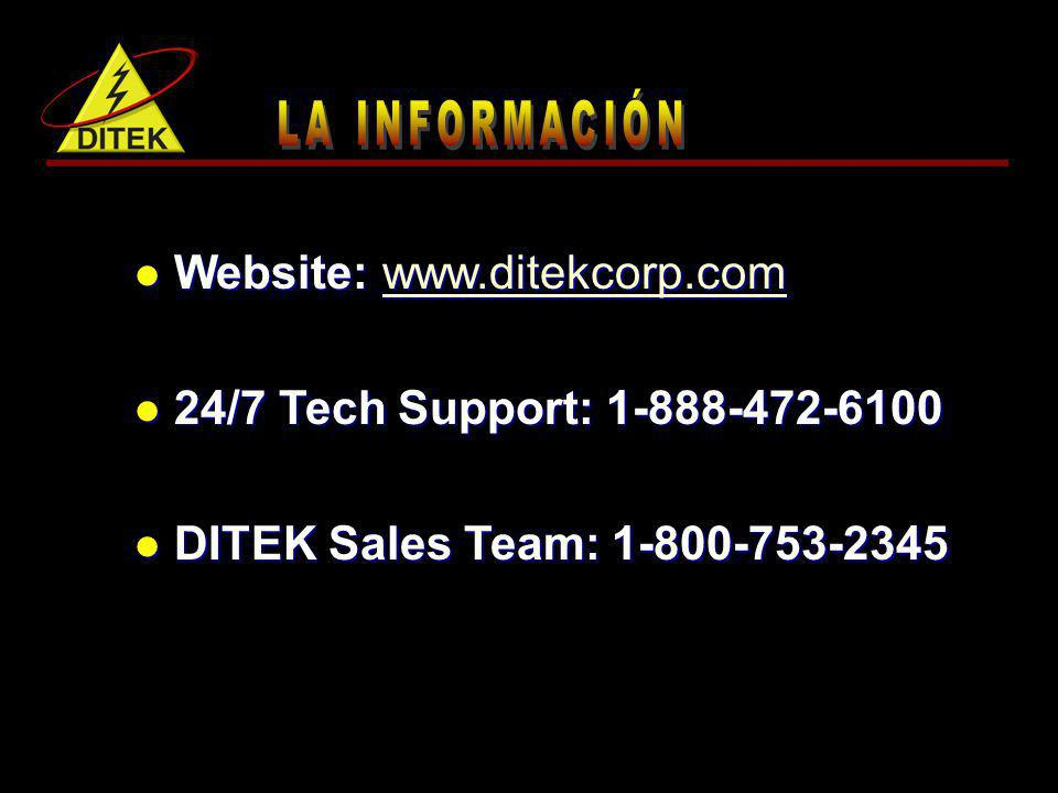 Website: www.ditekcorp.com 24/7 Tech Support: 1-888-472-6100