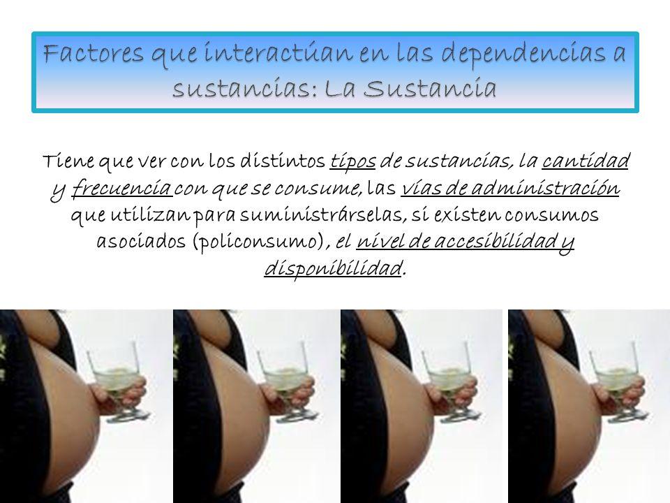 Factores que interactúan en las dependencias a sustancias: La Sustancia