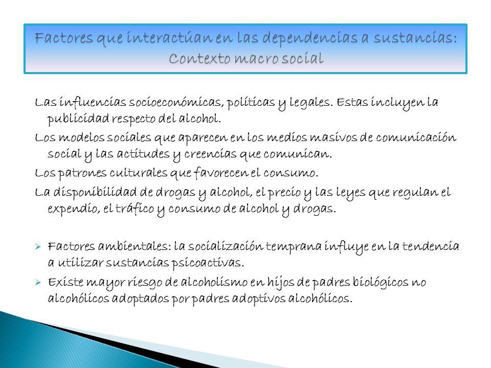 Factores que interactúan en las dependencias a sustancias: Contexto macro social