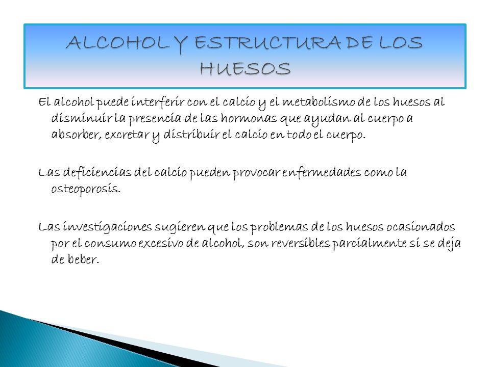 ALCOHOL Y ESTRUCTURA DE LOS HUESOS