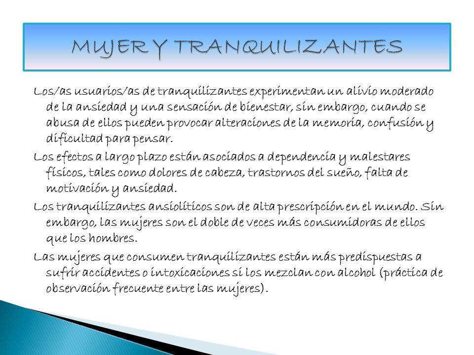 MUJER Y TRANQUILIZANTES