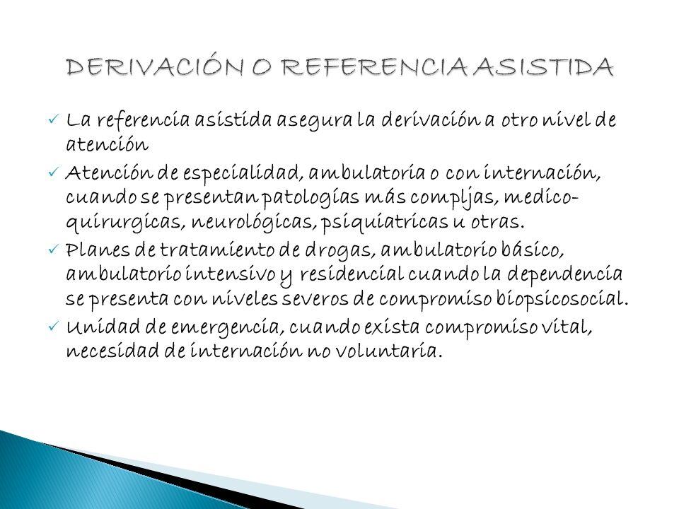 DERIVACIÓN O REFERENCIA ASISTIDA