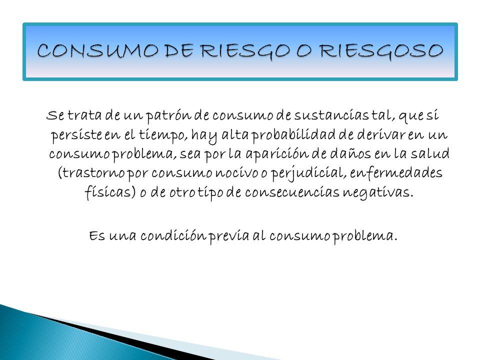 CONSUMO DE RIESGO O RIESGOSO