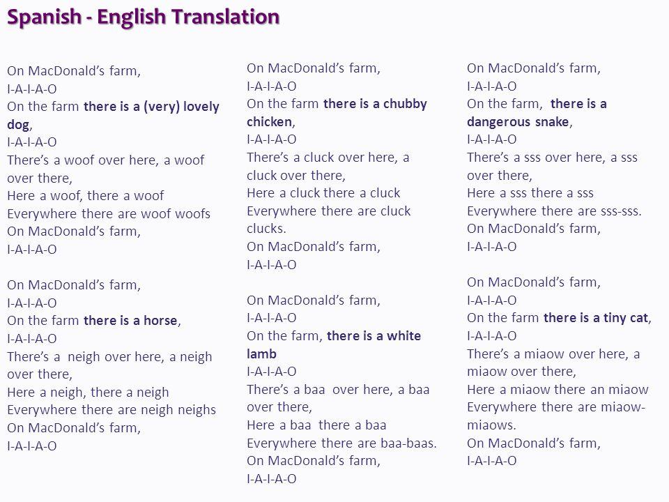 Spanish - English Translation
